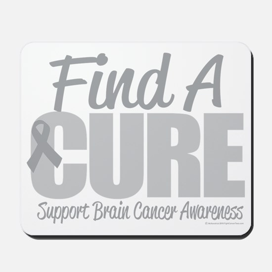 Brain-Cancer-Find-A-Cure-blk Mousepad