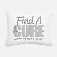 Brain-Cancer-Find-A-Cure Rectangular Canvas Pillow