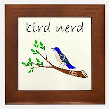 bird nerd Framed Tile