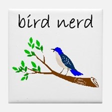 bird nerd Tile Coaster