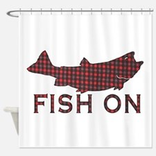 Fish on 2 Shower Curtain