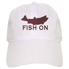 Fish on 2 Baseball Cap