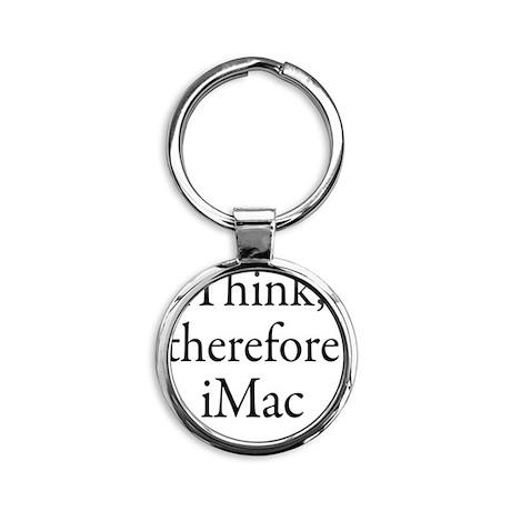 iThink therefore iMac Retro Round Keychain