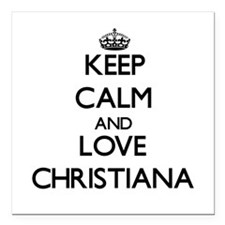Keep Calm and Love Christiana Square Car Magnet 3""