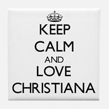 Keep Calm and Love Christiana Tile Coaster