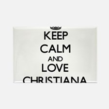 Keep Calm and Love Christiana Magnets