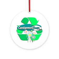 Recyclebigforblack Round Ornament