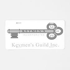 Keymen_Wht_Lg_Low Aluminum License Plate