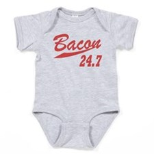 Bacon 247 Baby Bodysuit