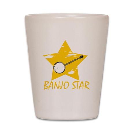 Banjo Star Shot Glass
