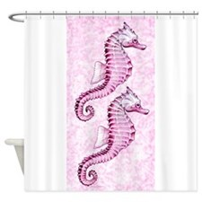 Pink Seahorses Shower Curtain