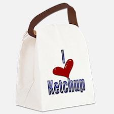 I love Ketchup Funny LOL Design Canvas Lunch Bag