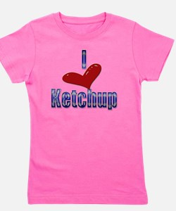 I love Ketchup Funny LOL Design Girl's Tee