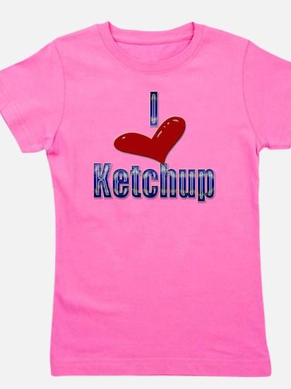 I love Ketchup Funny LOL Design Girl's Tee