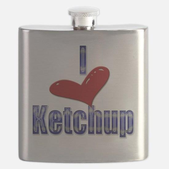 I love Ketchup Funny LOL Design Flask