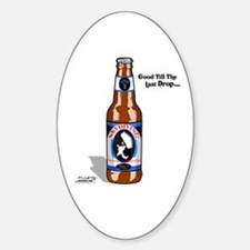 Skydiving Beer Oval Decal