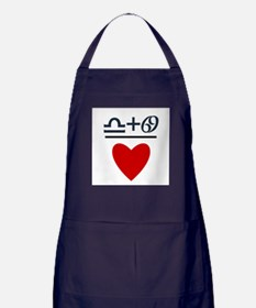 Libra + Cancer = Love Apron (dark)