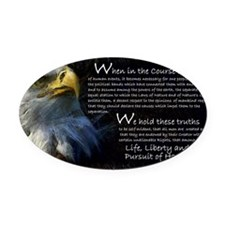Wheninthecourse Oval Car Magnet