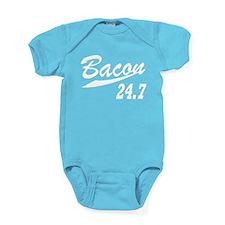 Bacon 247 Baby Bodysuit