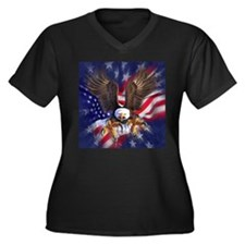 Patriotic Eagle Plus Size T-Shirt