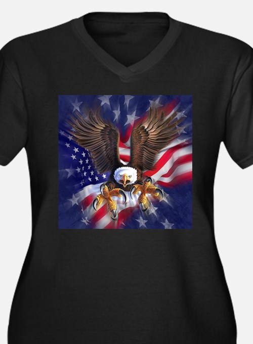 Patriotic Eagle Plus Size T-Shirt
