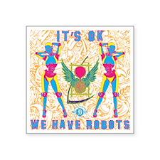 "2-robots Square Sticker 3"" x 3"""