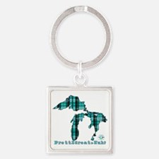 2-greatlakes Square Keychain