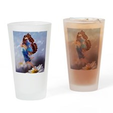 Fairy Butterfly Drinking Glass