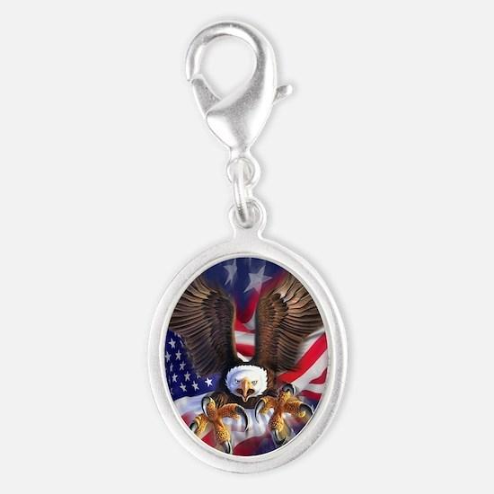 Patriotic Eagle Charms
