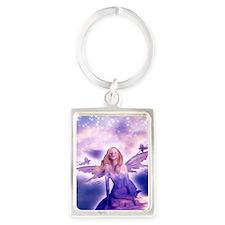 Fairy with Stars Portrait Keychain