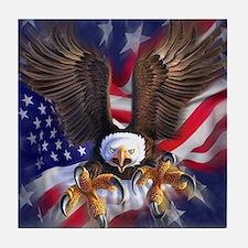 Patriotic Eagle Tile Coaster