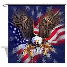 Patriotic Eagle Shower Curtain