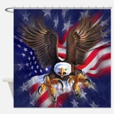 Patriotic Eagle Shower Curtain