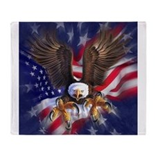 Patriotic Eagle Throw Blanket