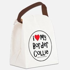 2-I love my border collie large Canvas Lunch Bag