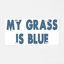 my grass is blue lyn skyn 1 Aluminum License Plate