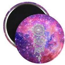 Galaxy Nebula Glitter dreamcatcher Pink Spa Magnet