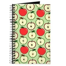Green and Red Half Apple Print Journal
