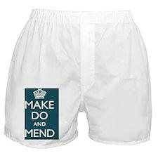 MAKEDOMEND_TEAL_BOX Boxer Shorts