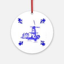 Dutchtile2b Round Ornament