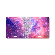 Galaxy Nebula Glitter dream Aluminum License Plate