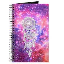 Galaxy Nebula Glitter dreamcatcher Pink Sp Journal