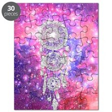 Galaxy Nebula Glitter dreamcatcher Pink Spa Puzzle