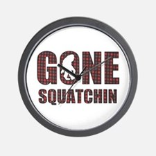 Gone Squatchin rp Wall Clock