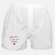 Kiss Me - Quit Smoking (lips) Boxer Shorts