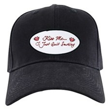 Kiss Me - Quit Smoking (lips) Baseball Hat