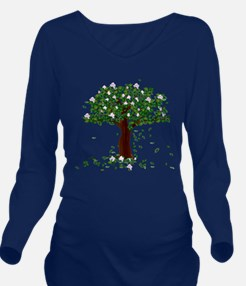 MAGNOLIA TREE Long Sleeve Maternity T-Shirt