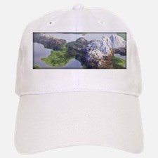 Digital Landscape - Mountains and Lakes Baseball Baseball Cap