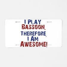 Bassoon copy Aluminum License Plate