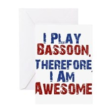 Bassoon copy Greeting Cards